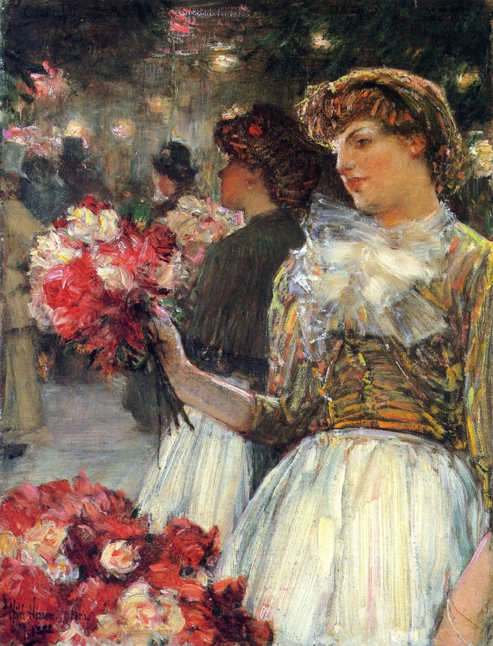 Peonies by Frederick Childe Hassam - 1888