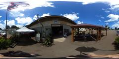 From the Waialua Coffee store at the former Waialua Sugar Mill in Waialua, O'ahu, Hawai'i...a 360° Equirectangular VR