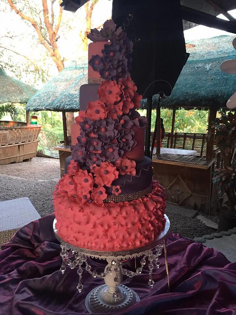 Pretty Red Cake by Angelica Magno