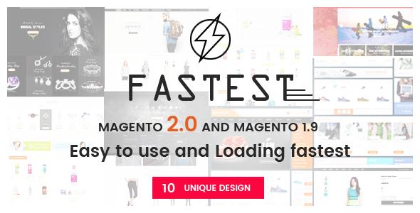 Fastest v1.2.0 - Magento 2 themes & Magento 1.9 Multipurpose Responsive Theme (10 Unique Design)