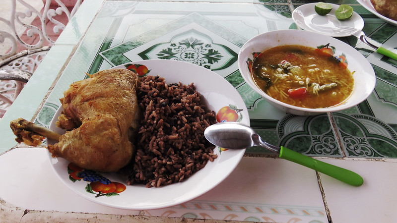 Typical Cuban meal