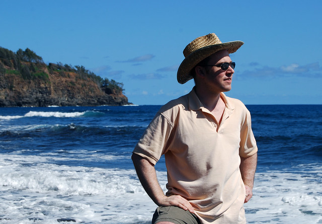 Mark on Pololu Beach