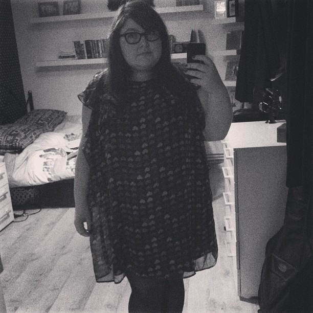 Nice thing about having a massive mirror - more frequent outfit documentation. #fatshion