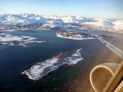 La côte norvégienne en hiver