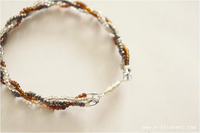 diy seed bead briad bracelet 8