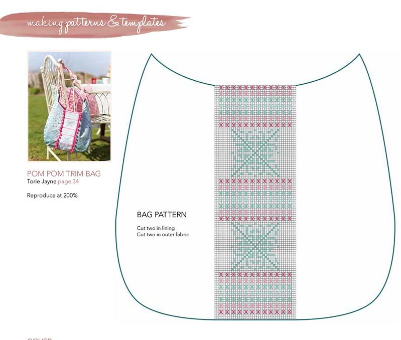 Pom Pom trim bag pattern
