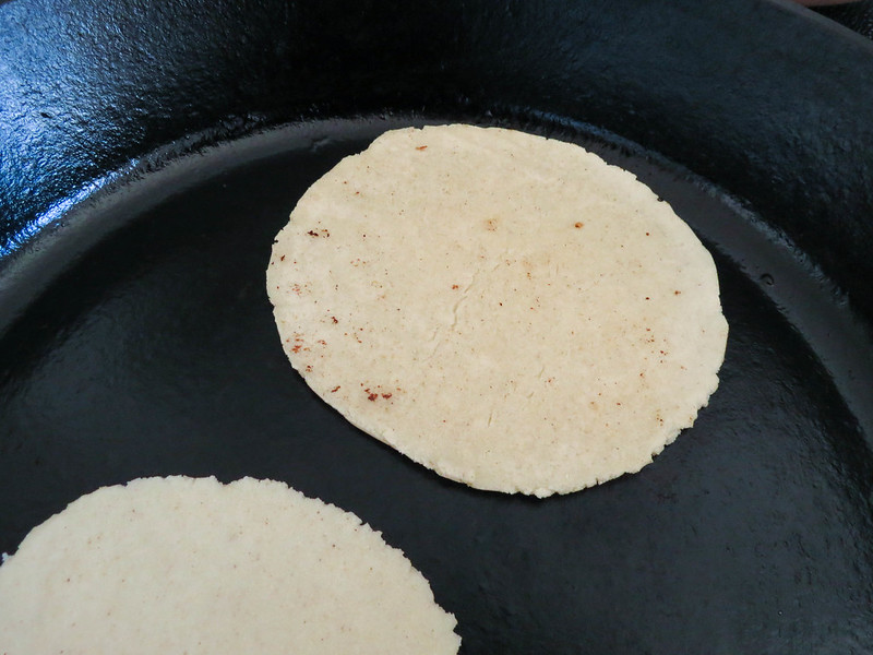 Cooking tortillas