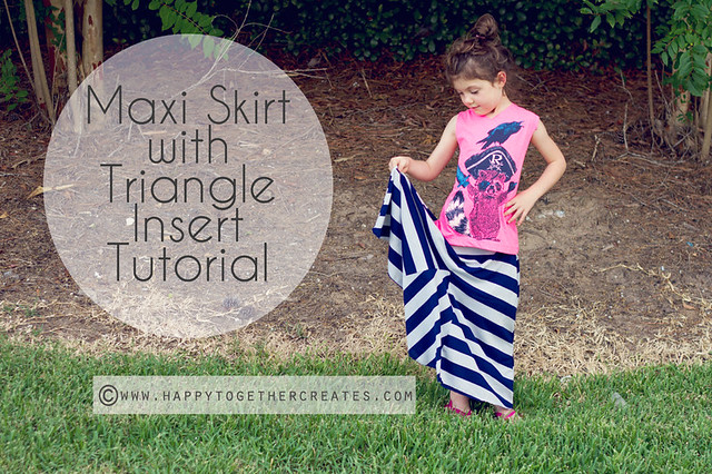 maxi skirt with triangle insert tutorial