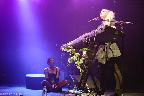Kate Miller Heidke (with Amanda Palmer sitting watching) @ The Roundhouse, Camden, 12/7/13