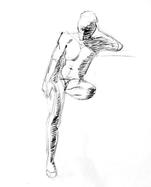 charcoal figure drawing 7/17/13