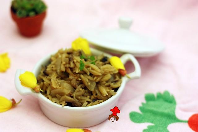 蘑菇義大利米麵 Mushroom Orzo 3