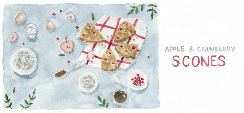 art watercolor scone recipe by Dara Muscat