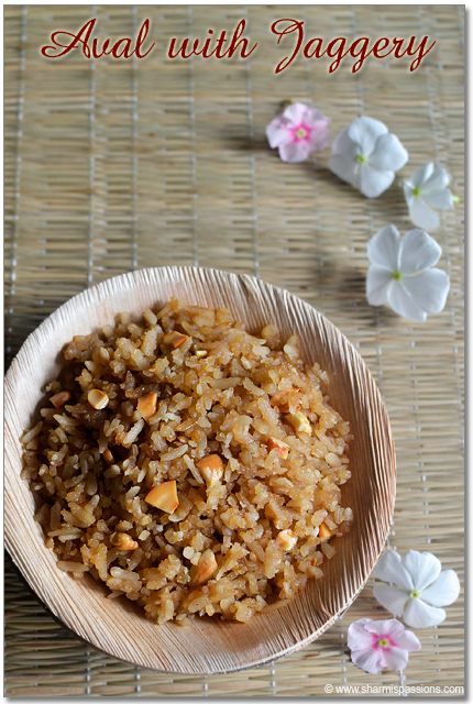 Poha Jaggery Recipe