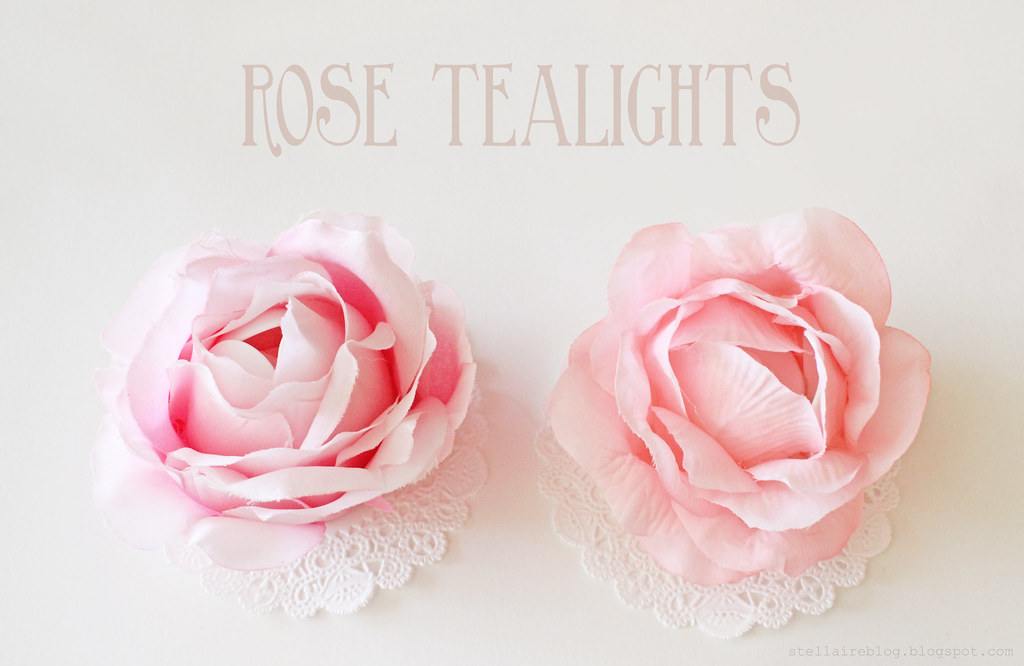 rose tealights