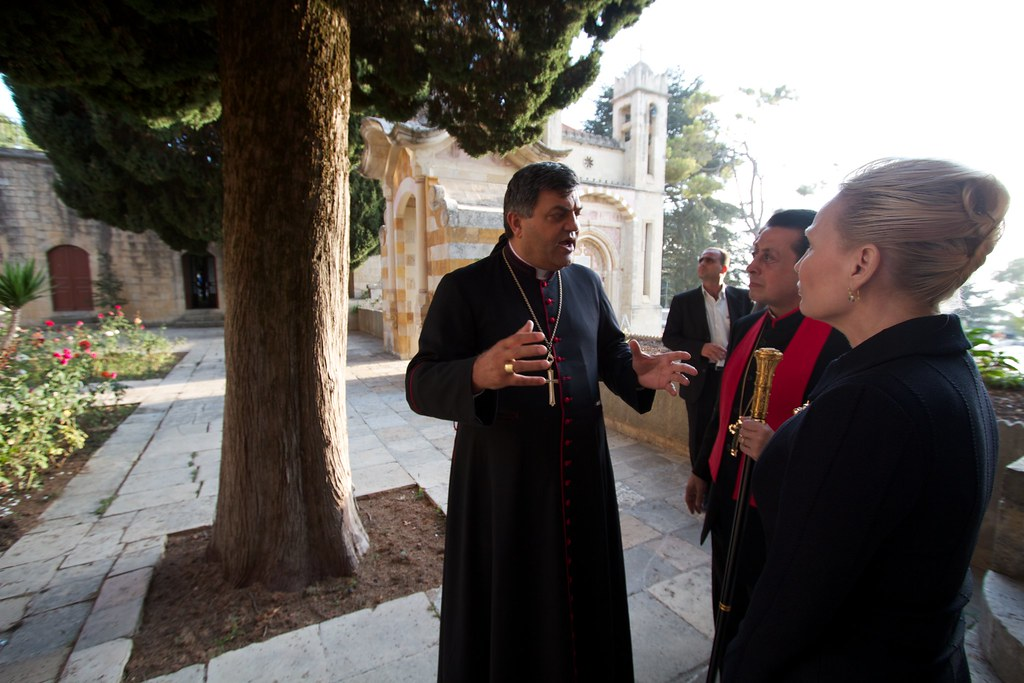 His Excellency Bishop Elias Nassar with the Doctors at the