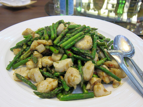 Scallops and Asparagus in XO Sauce