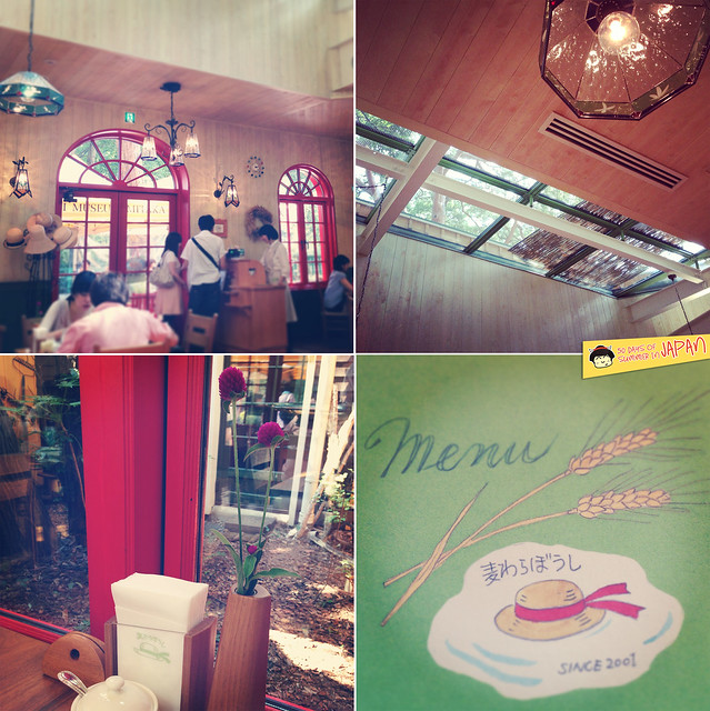 Ghibli Museum Mitaka, Japan - Straw Hat Cafe  interior and menu