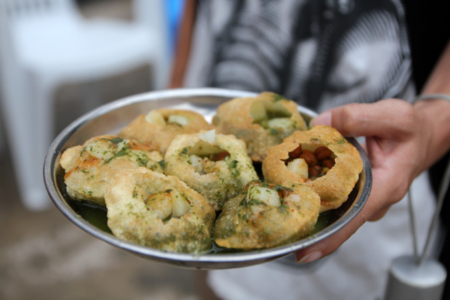 Pani puri - one of the world's great street food snacks
