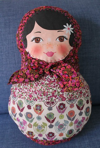 ooshkak babushka doll in LIberty