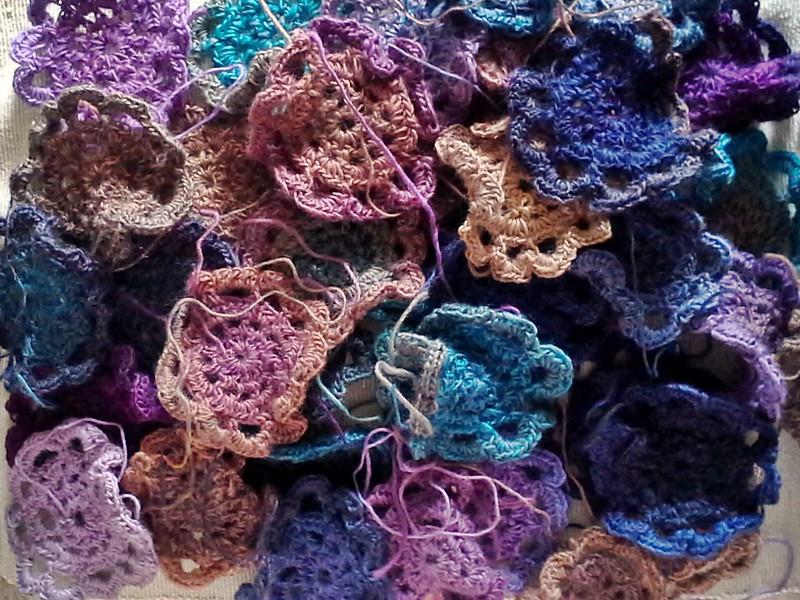 japanese crochet flower shawl