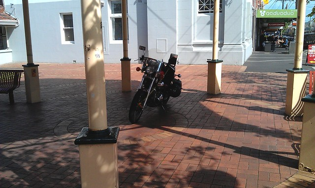 Parked in the middle of a rotunda