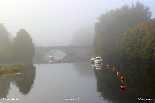 View from Brutus Bridge, River Dart, Totnes, Devon by www.stockerimages.blogspot.co.uk