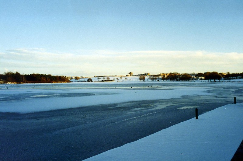 Hogganfield Loch in the Snow