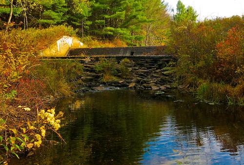 autumn fall water reflections dam reservoir odt beginswithd canong15