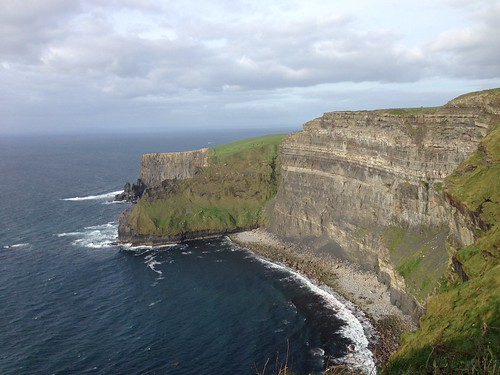 Cliffs of Moher through telescope