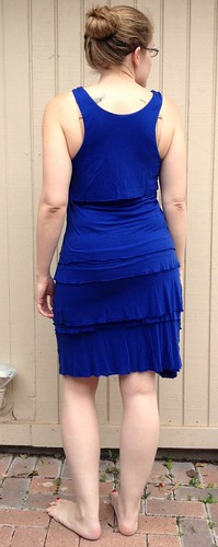 Cobalt Blue Dress into Tank and Scarf