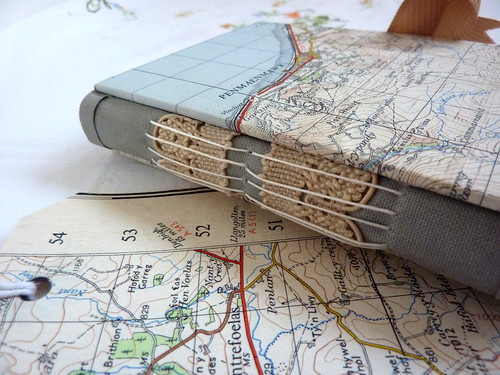 Hand made journals from vintage/recycled paper & materials