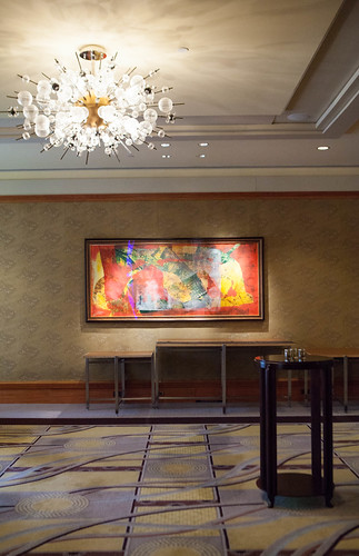 Part of the lounge area outside of the Oriental Ballroom