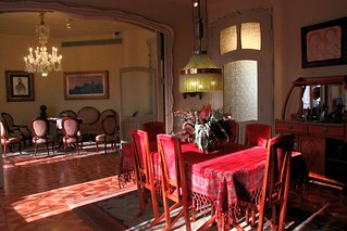 Appartment in Casa Mila by A. Gaudi - The dining and living rooms