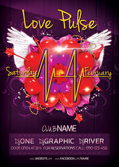 Preview Main File Love Pulse Party Flyer