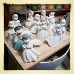 I started these in 2010 and never had time to finish them because they were for 'fun' and not 'work'. But my work *is* fun so it's time to dust these off and finish them! #ceramics #slipcast #figurines