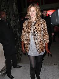 Eva Herzigova Leopard Print Coat Celebrity Style Women's Fashion