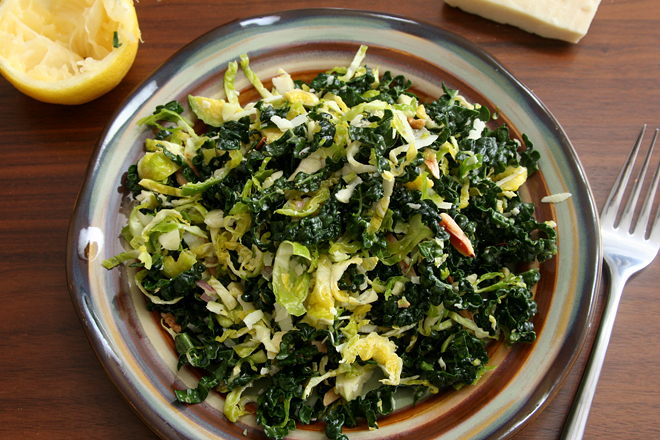 brussels sprouts kale salad 9
