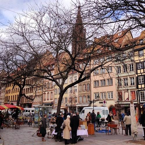 All about the fresh. Marche Rue de la Douane outdoor market, La Petite France, #Strasbourg