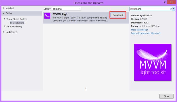 MVVM Light Toolkit - Installing