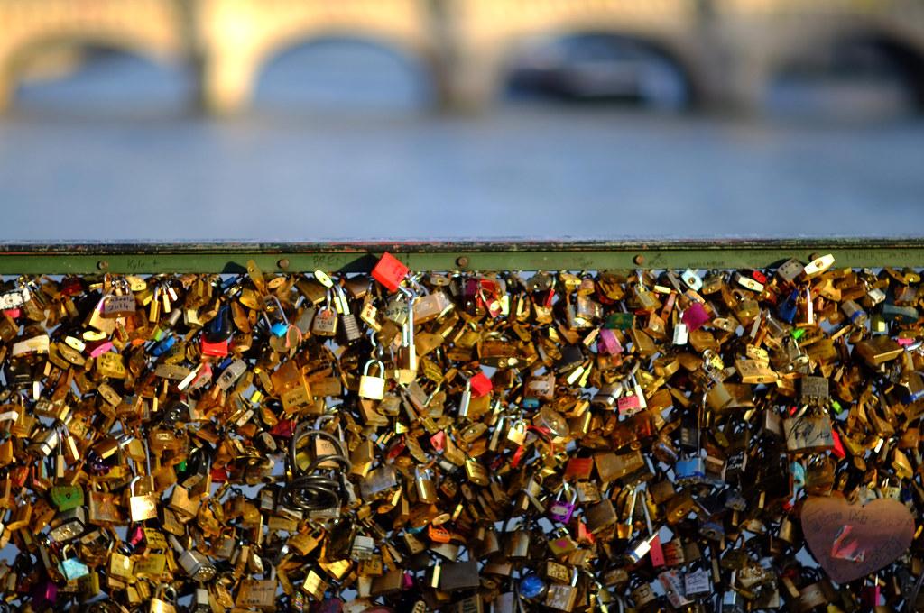 Lots of love locks