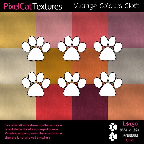 PixelCat Textures - Vintage Colours - Cloth