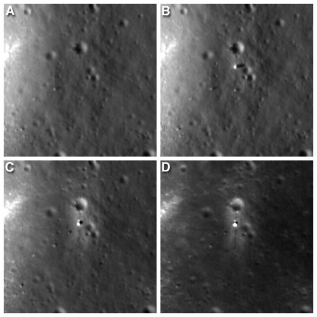 Four views Chang'e 3 landing site