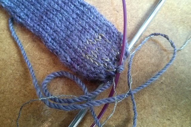 Knitting with conductive thread