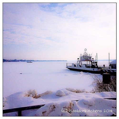 "10/3/2014 - ""far away"" & ""trip"" {bonus - this fits both prompts for today} I love taking a trip on the ferry. If you look closely, you can see the second ferry, far away! #photoaday #fmsphotoaday #trip #faraway #ferry #winter #ice #glenora #bayofquinte #l"