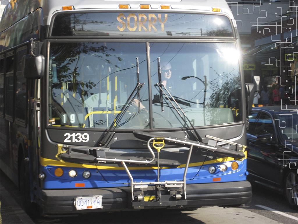 Ônibus fora de serviço