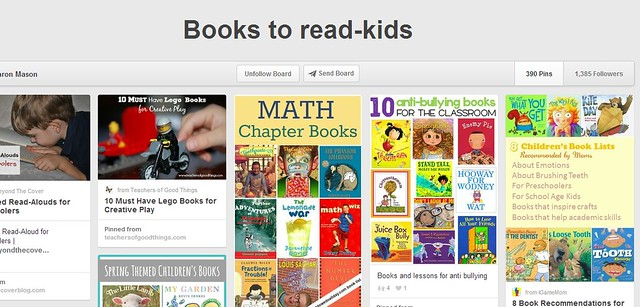 Books to Read for Kids Pinterest Board