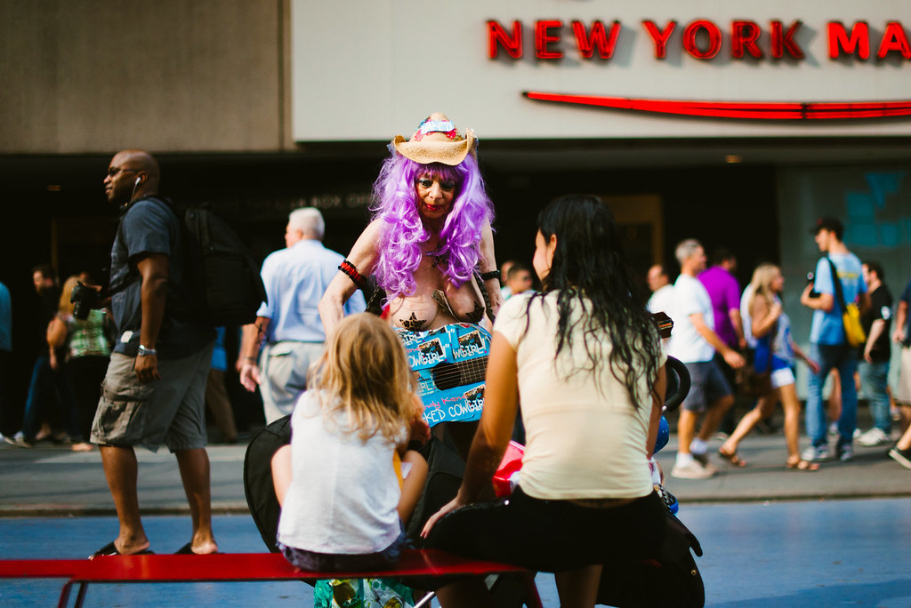 naked woman in new york city