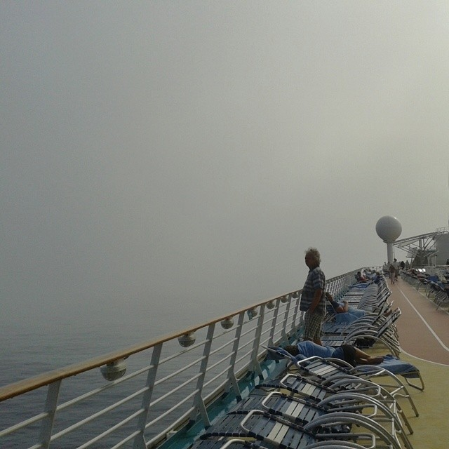 Sometimes it gets a bit misty in the middle of Atlantic cruise