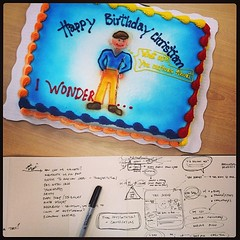 Surprise bday cake (+ party) today in Utah via my @MHTN Architects partners & @logan_grizz Logan HS compadres! #theyrock
