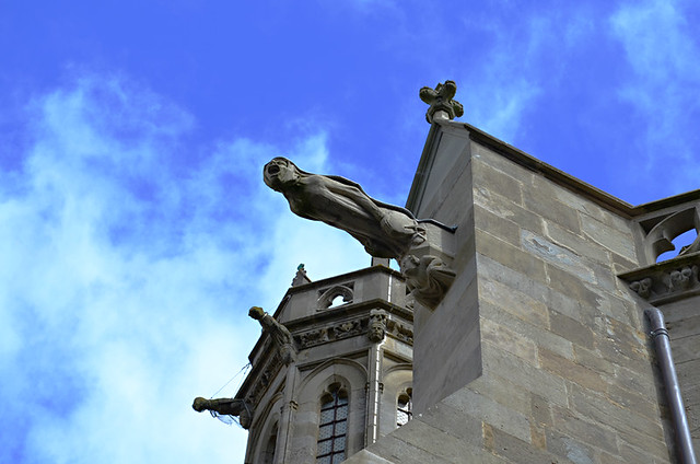 Gargoyle, Medieval City, Carcassonne, France